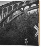 Dog Creek Bridge Railroad  Crossing Wood Print
