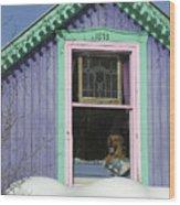 Dog Days Of Winter Wood Print
