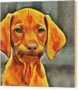 Dog Friend Wood Print