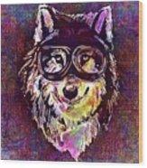 Dog Funny Cheeky Cap Animal Wild  Wood Print