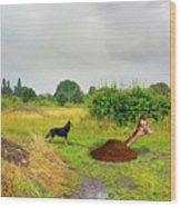 Dog Heaven - Abbie's Edit Challenge 3 Wood Print