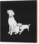 Dog Love Tee Wood Print