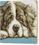 Dog -  New Pop Art Poster Wood Print