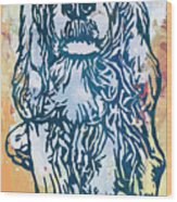 Dog Pop Etching Art Poster Wood Print