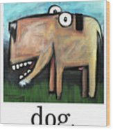 Dog Poster Wood Print