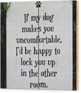 Dog Smart Wood Print