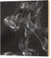 Dog Smoke Wood Print by Garry Gay