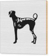 Dog Tee Wood Print