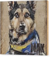 Dog Traditional Drawing Wood Print
