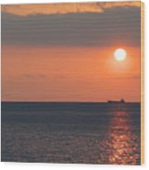 Dogashima Sunset Wood Print
