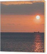 Dogashima Sunset Wood Print