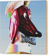 Doggie Diner Sign Wood Print by Samuel Sheats