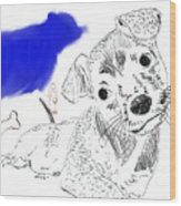 Doggie Dreams Wood Print