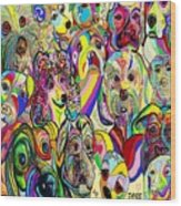 Dogs Dogs Dogs Wood Print