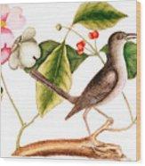 Dogwood  Cornus Florida, And Mocking Bird  Wood Print