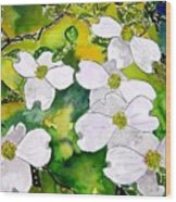 Dogwood Tree Flowers Wood Print