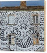 Doily House Wood Print