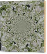 Doily Of Flowers Wood Print