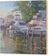 Docks At The Shores  Wood Print