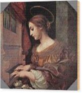 Dolci Carlo St Cecilia At The Organ Wood Print