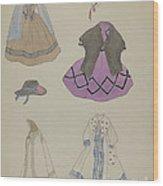 Doll And Wardrobe Wood Print