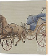 Doll Carriage Wood Print