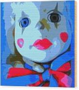 Doll In Blue Wood Print