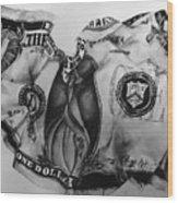 Dollar Bill Wood Print