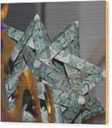 Dollar Origami Wood Print