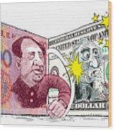 Dollar Vs Yen Wood Print