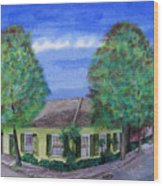 Dolliole Cottage Wood Print