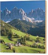 Dolomites, Italy #3 Wood Print
