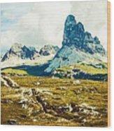 Dolomites, Monte Piana, Italy Wood Print