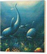 Dolphin Euphoria Wood Print