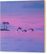 Dolphin Island Wood Print