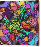 Dolphin Kaleidoscope Wood Print