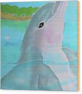 Dolphin Smile Wood Print