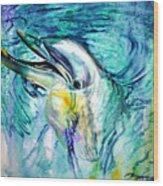 Dolphin Smile Wood Print