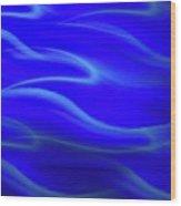 Dolphin Waves Wood Print