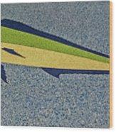 Dolphinfish Inlay On Alabama Welcome Center Floor Wood Print