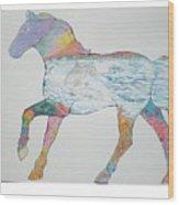 Dolpin Horse Wood Print