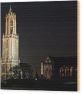 Dom Tower And Dom Church In Utrecht In The Evening 2 Wood Print