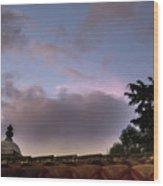 Dome And Clouds - Guatemala Iv Wood Print