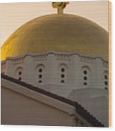 Dome And Cross At St Sophia Wood Print