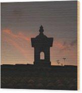 Dome And Sunset - Antigua Guatemala Wood Print