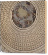 Dome In Capitol Building Wood Print