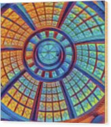 Dome Of Colors Wood Print