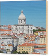 Dome Of Gothic Church In Lisbon Wood Print