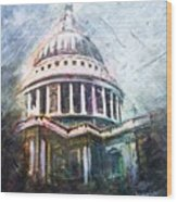 Dome Of Saint Pauls Wood Print