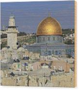 Dome Of The Rock Jerusalem Israel Wood Print